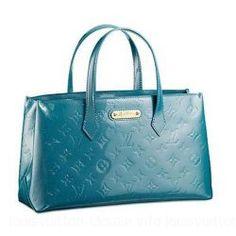 Louis Vuitton-Handbag Monogram Vernis 589674 Blue