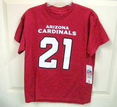NFL Youth 14-16 ARIZONA CARDINALS T-Shirt RED Cotton 21 PETERSON Short Sleeve #Arizona #Everyday