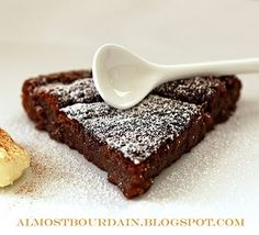 Almost Bourdain: French Flourless Chocolate Cake (Gluten & Nut Free)