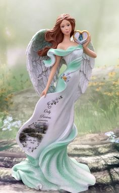 Guardian Angel Cherished Figurine Bradford Exchange  Thomas Kinkade