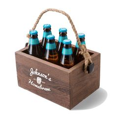 Personalized Beer Caddy with Rope Handle - Printed Beer Caddies - Personalized Barware - Man Cave Gifts - Husband Gifts - Monogram Gifts, Personalized Gifts, Wooden Beer Caddy, Cabin In The Woods, Bar Gifts, Wine Glass Set, Graduation Party Decor, Monogram Design, Groomsman Gifts