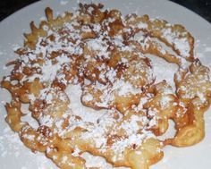 The BEST State Fair Funnel Cake Recipe With a List Of Easy Instructions Sweet treats State Fair Funnel Cake Recipe, Funnel Cake Recipe Easy, Homemade Funnel Cake, Easy Cake Recipes, Dessert Recipes, Funnel Cake Batter, Funnel Cakes, Just Desserts, Delicious Desserts
