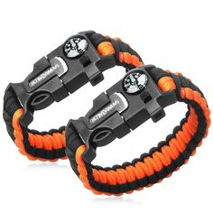 2PCS PACK Multifunctional Paracord Bracelet -- See this great product.