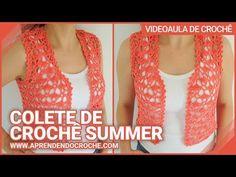 Crochet Top, Crochet Vests, About Me Blog, Youtube, Tops, Fashion, Crochet Crop Top, Crochet Shorts, Crochet Bikini