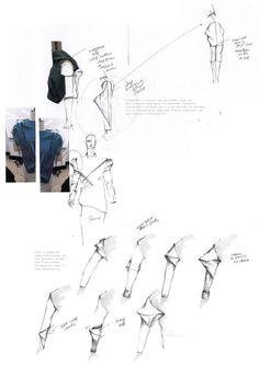 Fashion Design Sketchbook - sleeve drape development, fashion sketches // Luke Astro