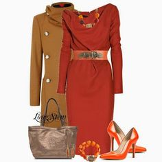 Dressing Your Truth Ideas Typ Dressy Outfits Dressy Outfits, Chic Outfits, Fashion Outfits, Womens Fashion, Fashionable Outfits, Bold Fashion, Work Outfits, Fashion Clothes, Orange Outfits
