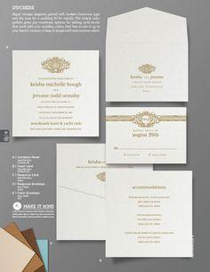 """Duchess"" Wedding Invitation From Envelopments"
