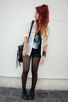 tempted to dye my hair like this. love her hair!
