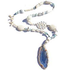 Aquamarine Moon Landing Necklace
