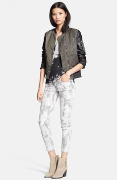 The Kooples Jacket, Tee & Ankle Jeans  available at #Nordstrom