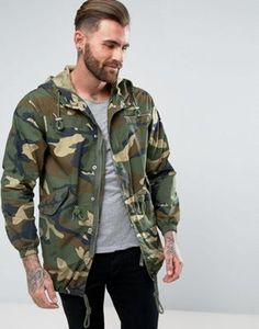 Pull&Bear Lightweight Parka Jacket In Camo Pull & Bear, Pull And Bear Men, Winter Hats For Men, Looking Dapper, Spring Jackets, Chains For Men, T Shirt And Jeans, Latest Fashion Clothes, Fashion Online