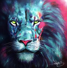 appeared first on Kunst und Design. Cross Paintings, Animal Paintings, Lion Painting, Lion Wallpaper, Lion Pictures, Lion Art, Arte Pop, Graffiti Art, Cat Art