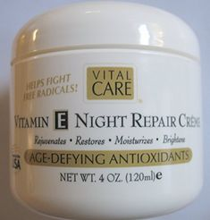 Vital Care Vitamin E Night Repair Creme Age Defying Antioxidants 4 Oz Review Anti Aging Night Cream Anti Aging Vitamins Vitamin E