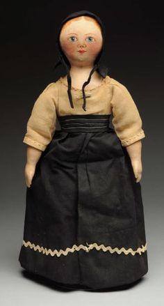 "Lot # : 469 - Rare All-Cloth ""Maggie Bessie"" Doll."