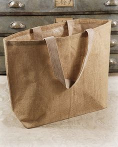 Large Burlap Jute 22x16 Tote Bags with Cotton Handles    $6.99 each/ 10 for $6 each