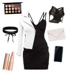 black night by carito-beccaria on Polyvore featuring polyvore fashion style Doublju Dolce&Gabbana Verali Boohoo Belkin MAC Cosmetics clothing