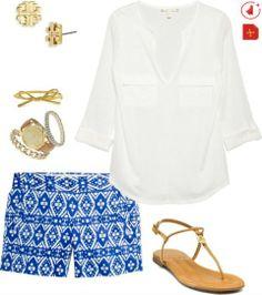 Outfit con print shorts para el verano