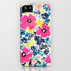 Watercolor Floral iPhone & iPod Case by papier fabrik #Society6 #iPhone #floral #pattern