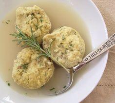 The Spunky Coconut: Rosemary & Garlic Dumplings (gluten-free, casein-free)