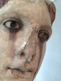 #ancient #greek #statue in the #acropolis #museum, the #tears come from the oxydized bronze eyes after long time exposed in the open. Tears were not part of the original #design but added a #dramatic note to this relic, like it was affected by the declination of the #civilization that conceived and created it.