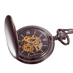This is a premium quality pocket watch by Visol. It comes with a 12 inch chain. This watch can be a great gift for Christmas or Father's Day.