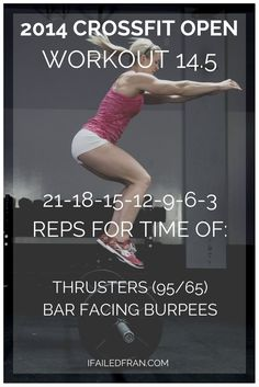 The 2014 Reebok CrossFit Games Open Wod - Thrusters and Bar Facing Burpees Workout Crossfit Motivation, Reebok Crossfit, Crossfit Open Workouts, Crossfit Routines, Wod Workout, Crossfit Exercises, Basic Workout, Training Exercises, Kettlebell Training