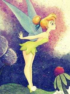 Peter Pan - Tinkerbell - Tippy Toes - Original by Michelle St. Laurent presented by World Wide Art Tinkerbell And Friends, Tinkerbell Disney, Peter Pan And Tinkerbell, Tinkerbell Fairies, Peter Pan Disney, Disney Fairies, Disney Dream, Disney Love, Disney Magic