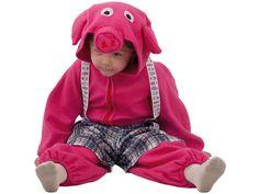DisfracesMimo, disfraz de cerdito rosa para bebe varias tallas.Compra tu disfraz barato infantil para tu grupo. Este traje es ideal para tus fiestas temáticas de cerdito y animales.