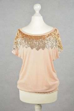 Pailletten-Shirt von VILA online kaufen - Grösse L - Marke Vila | Vintage-Fashion Online Shop fürs Verkaufen und Kaufen