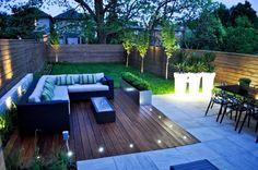 eclairage terrasse bois lanterne exterieur lumiere jardin idee luminaire pas cher spots led sol
