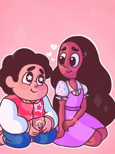 Steven is a romantic weeb that gives Sailor Moon Valentine's Day cards to his crush, Connie. such a precious baby Nerd Romance Steven Y Connie, Connie Steven Universe, Steven Universe Ships, Universe Love, Universe Art, Cosplay, Fanart, Kawaii, Princess Of Power