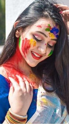 Beautiful Love Pictures, Cool Girl Pictures, Most Beautiful Faces, Beautiful Girl Photo, Cute Girl Photo, Beautiful Lips, Beautiful Girl Indian, Holi Girls, Holi Photo