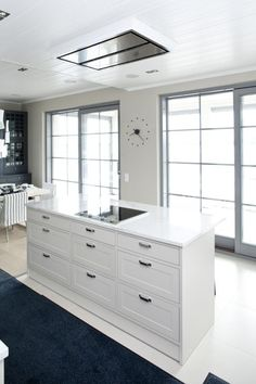 Nixi kitchens too, I suppose. Exterior Design, Interior And Exterior, Modern Country, Detached House, Kitchen Interior, Double Vanity, Home Kitchens, Kitchen Dining, Sweet Home