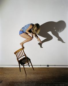 Sam Taylor-Wood, Bram Stoker's Chair III shadows don't appear to match to me but… Shadow Photography, Woods Photography, Perspective Photography, Color Photography, Trampolines, Sam Taylor Johnson, Artwork Images, Photo Manipulation, Les Oeuvres