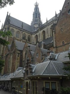 Grote of Sint Bavo church. Haarlem, my hometown. The Netherlands Haarlem Netherlands, Kingdom Of The Netherlands, Church Building, The Beautiful Country, Gothic Architecture, Delft, European Travel, Belgium, Barcelona Cathedral