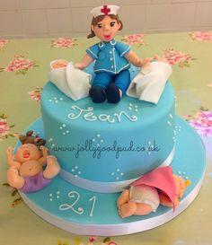 Nurse & babies birthday cake