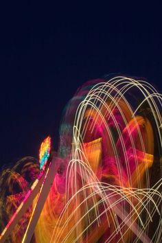 Calgary Stampede 2009  Long exposure midway photo