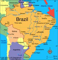 So, where is the Capital City of Natal and the State of Rio Grande do Norte??