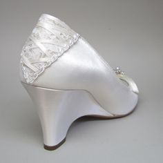 Wedding Shoes  The Very Sexy Wedding Wedge by DesignYourPedestal, $236.25