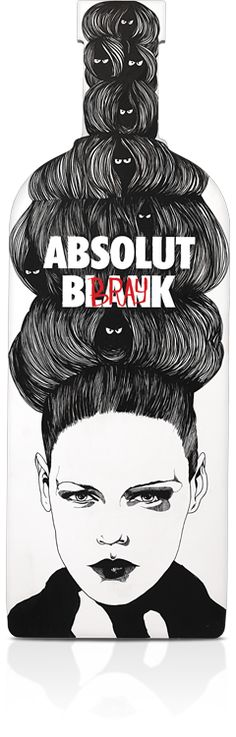 Beautifully designed Absolut Vodka ads done by artists!