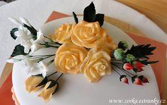 Dorty, řezy, dobroty - Fotoalbum - Moje dorty tematicky řazené - Květiny - detaily