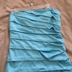 Blue strapless dress Only worn once, years ago!! In great condition still. tags cut off, but is a size small from Nordstrom. Dresses Strapless