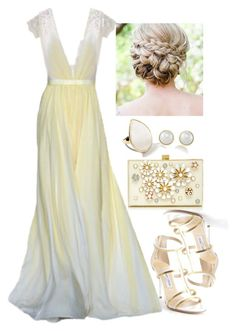 """""""Untitled #3078"""" by natalyasidunova ❤ liked on Polyvore featuring Jimmy Choo, Ippolita, Elie Saab and Carolee"""