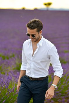 Uniqlo slim fit dress shirt, Club Monaco belt & trousers, Mont Blanc watch…