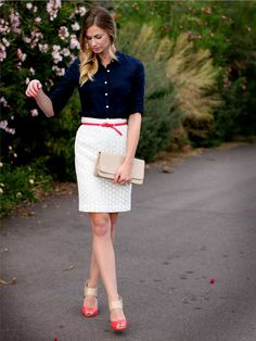 Work outfit for summer Viernes Casual, Preppy Style, My Style, Classic Style, Sewing Circles, Business Outfits, Business Casual, Work Fashion, Office Fashion