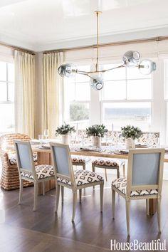 A Nantucket Born Designer Made This Beach House So Glam Dining Room