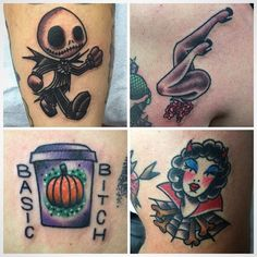 Here's a couple spoopy Halloween tats @pawlski did today! @pawlski and…