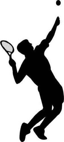 "Tennis Player - 36""H x 16""W - Peel and Stick Wall Decal by Wallmonkeys by Wallmonkeys Wall Decals, http://www.amazon.com/dp/B005X987YE/ref=cm_sw_r_pi_dp_qz1Zrb1N7JBF3"