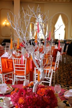 Beautiful Blooms Eschelon Photographers Candy Bat Mitzvah Pink Orange Branches Rock Candy Trees Gerbers Roses Hydrangea The Merion