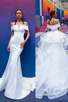Smart Convertible Wedding Dress Ideas For Brides ★ convertible wedding dress mermaid to ball gown simple crystal design Western Wedding Dresses, Affordable Wedding Dresses, Sexy Wedding Dresses, Elegant Dresses, Bridal Dresses, Strapless Dress Formal, Beautiful Dresses, Wedding Gowns, Simple Dresses